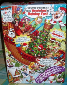 Back of 2009 Christmas Crunch box